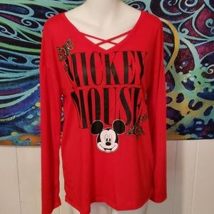 disney mickey mouse top size L